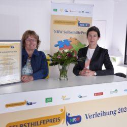 Gewinner Kategorie 2 Junge Selbsthilfe. Überreichung der Urkunde an den Cochlea Impantat Verband NRW